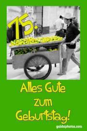 Karte 70. Geburtstag Zitrone