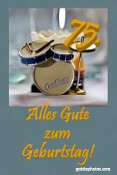 Karte 70. Geburtstag Schlagzeug