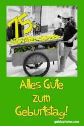 75. Geburtstag Zitrone