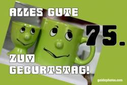 75. Geburtstag Augenrollen