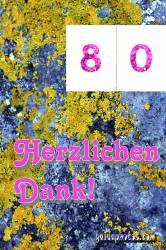 Dankeskarten zum 80.Geburtstag