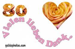 Dankeskarten zum 80.Geburtstag Herz, Liebe, Valentinstag