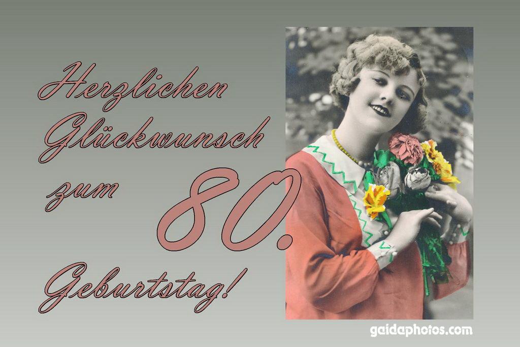80. Geburtstag: Glückwünsche, Einladungen, Dankeskarten