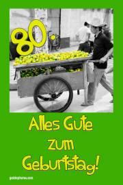 80. Geburtstag Zitrone