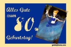 80. Geburtstag Karte Barbie Barbie