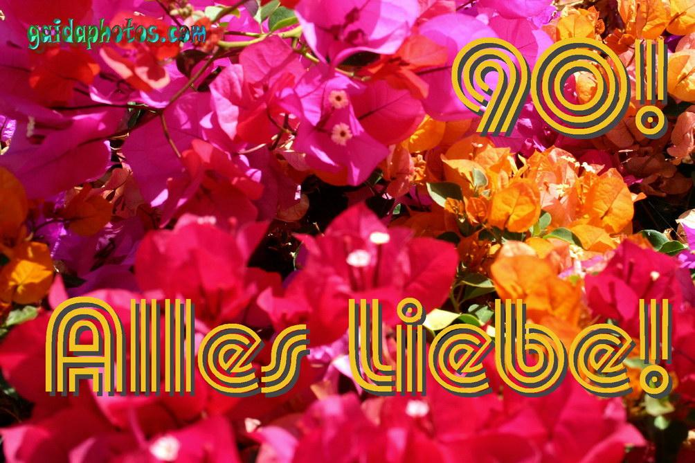 90. Geburtstag: Geburtstagskarten, Einladungen, Dankeskarten