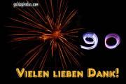 90. Geburtstag Danksagung Feuerwerk