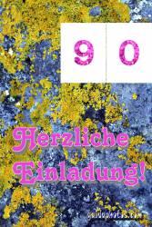 90. Geburtstag: Geburtstagseinladungen kostenlos