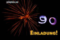 90. Geburtstag: Geburtstagseinladungen  Feuerwerk