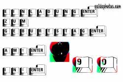 90. Einladung  Tastatur