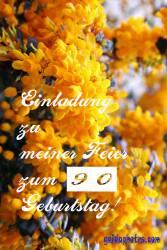 90. Einladung kostenlos90. Einladung  gelbe Blüten