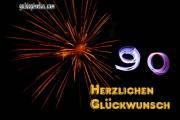 90. Feuerwerk