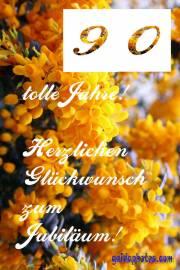 90. gelbe Blüten