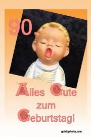 90. Geburtstagskarte  Engel singt