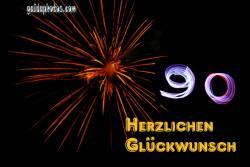 90. Geburtstag Feuerwerk