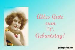 90. Geburtstag Frau Antik