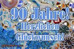 Geburtstagskarten kostenlos zum 90. Geburtstag