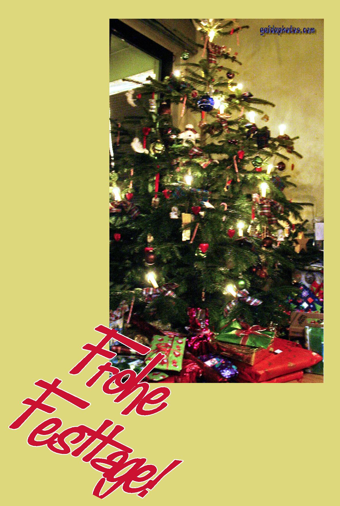Kostenlose weihnachtskarte mit weihnachtsbaum - Weihnachtskarten kostenlos verschicken ...